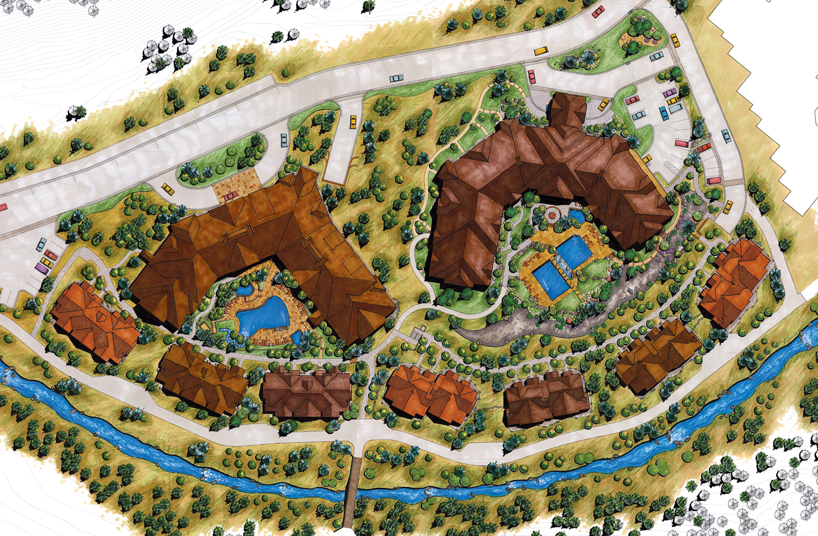 """<img src="""" studioINSITE_The_Cirque_Site_Plan """"alt=""""  Resort, mountain resort, vacation homes, pool, spa, fire pit, site planning, landscape architecture  """" title=""""The Cirque at Copper Mountain""""/>"""