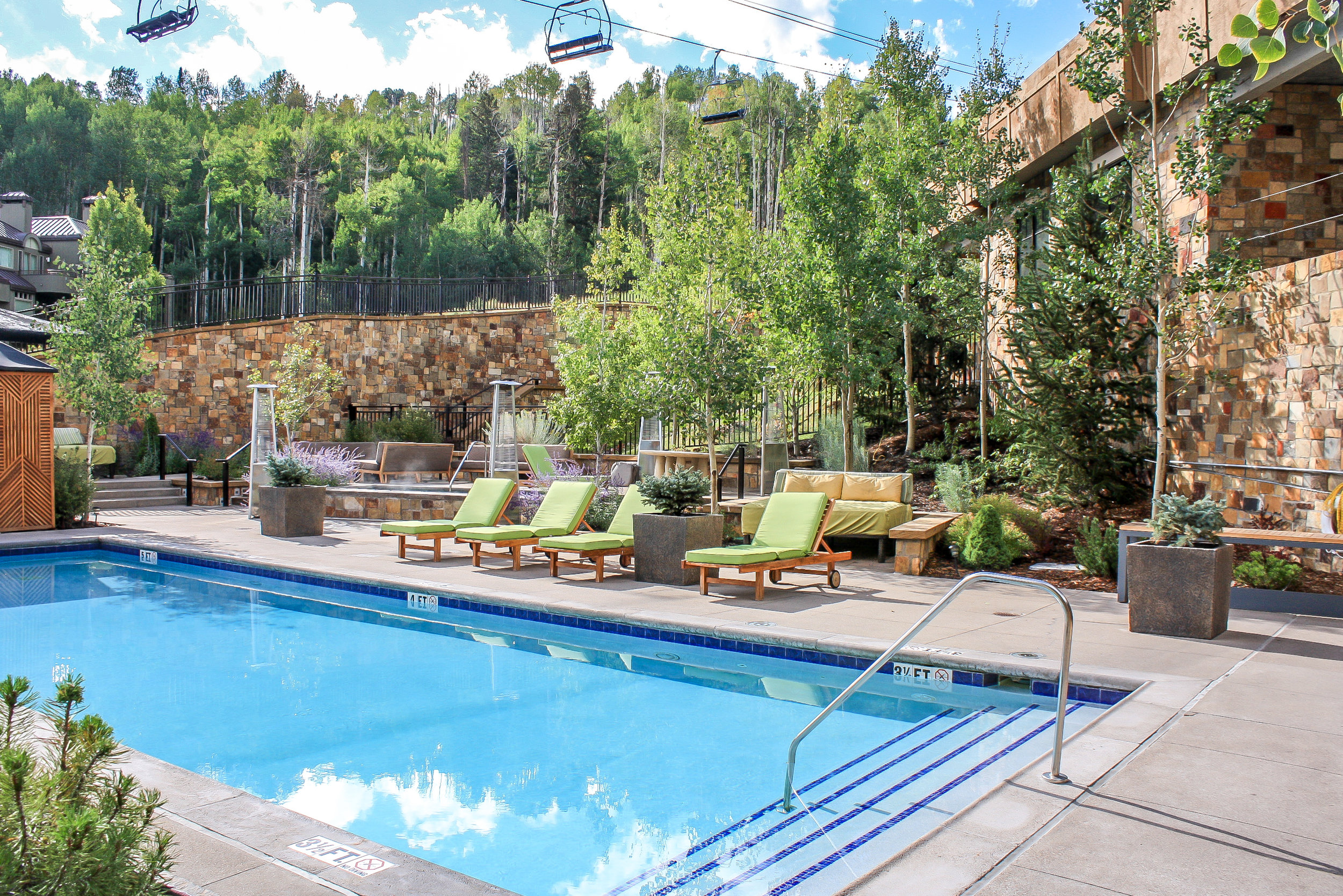 """<img src="""" studioINSITE_Viceroy_Pool_Deck_ """"alt=""""  Resort, mountain resort, hotel, vacation homes, condominium, roof deck, design over structure, pool, site planning, landscape architecture  """" title=""""Viceroy at Snowmass""""/>"""