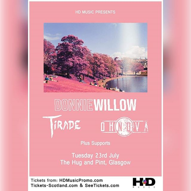 We're back in Glasgow July 23rd playing with the mighty @donniewillow and @tiradeband at @thehugandpint  Thanks to Harris at @hdmusicscotland for adding us! Get in touch if you want tickets!