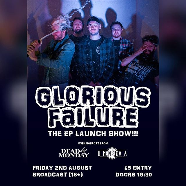 This is tonight Glasgow! Stop listening to Tool and get ye to @broadcastglasgow for a night of quality tunes with our wee pals @gl0riousfailure @deadbymonday_uk