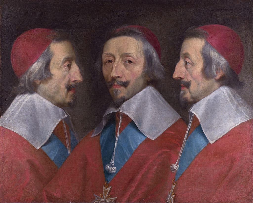 Triple portrait of Cardinal de Richelieu, Philippe de Champaigne.jpg