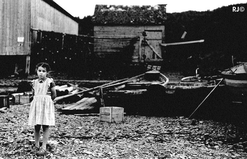 Young girl - Gaspé, 1954