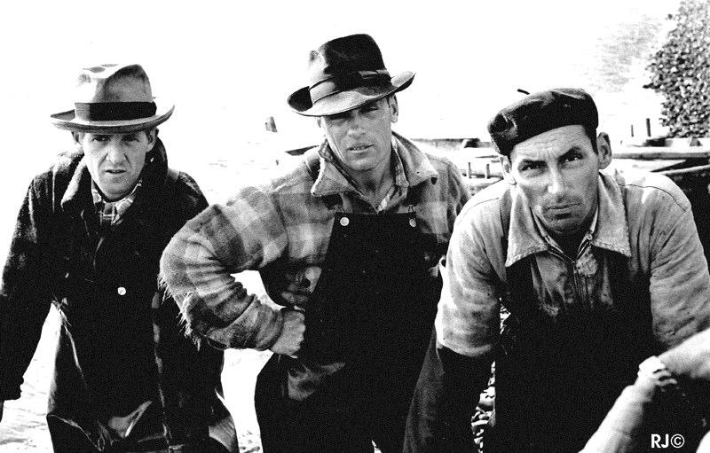 Three fishermen - Gaspé, 1954