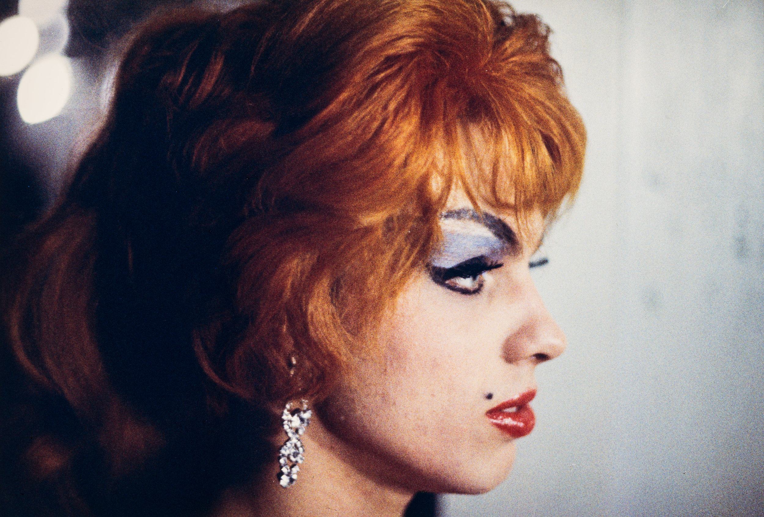 Performer with beauty mark on face, Jewel Box Revue, 1962