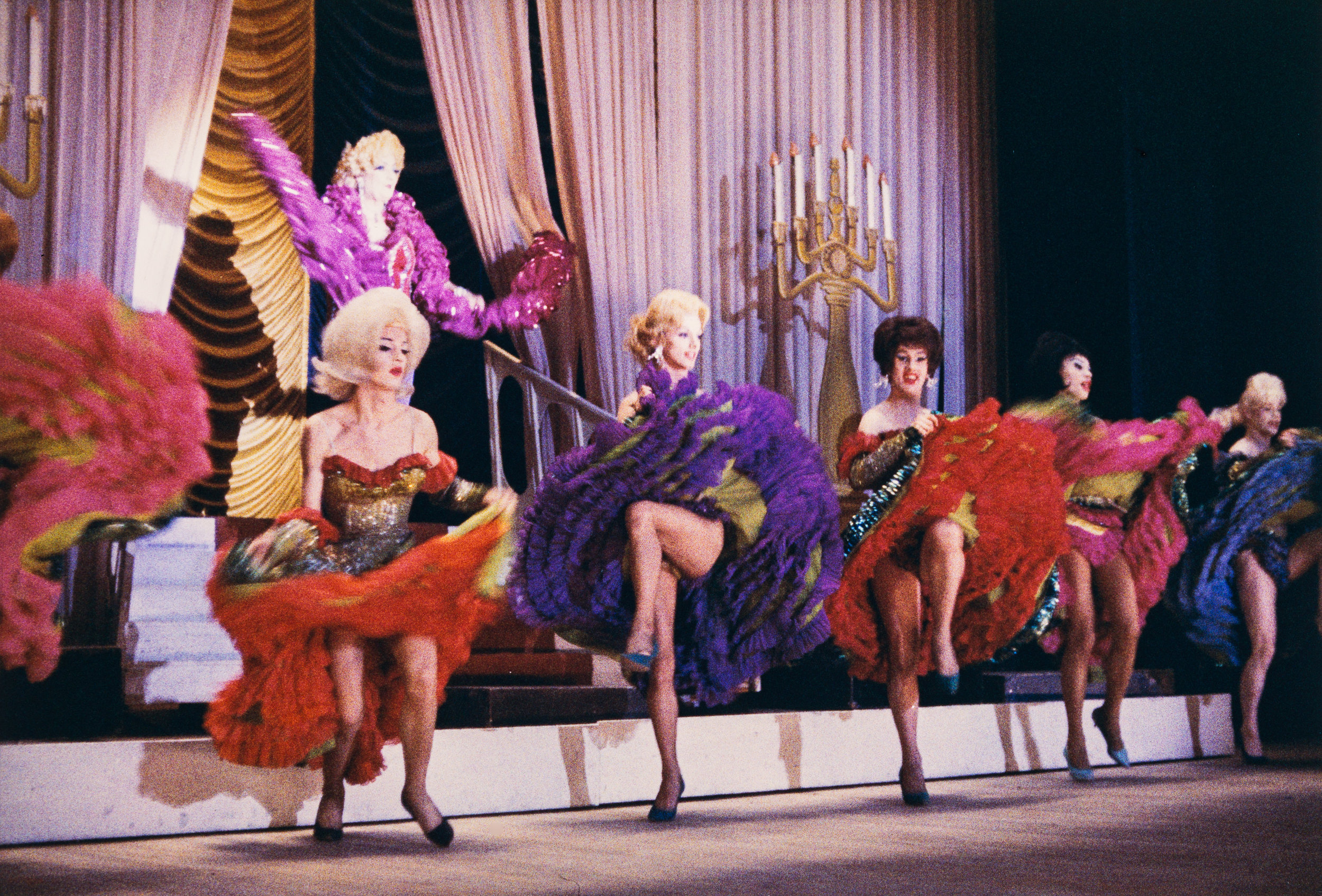 Dancing on stage in drag, Jewel Box Revue, 1962