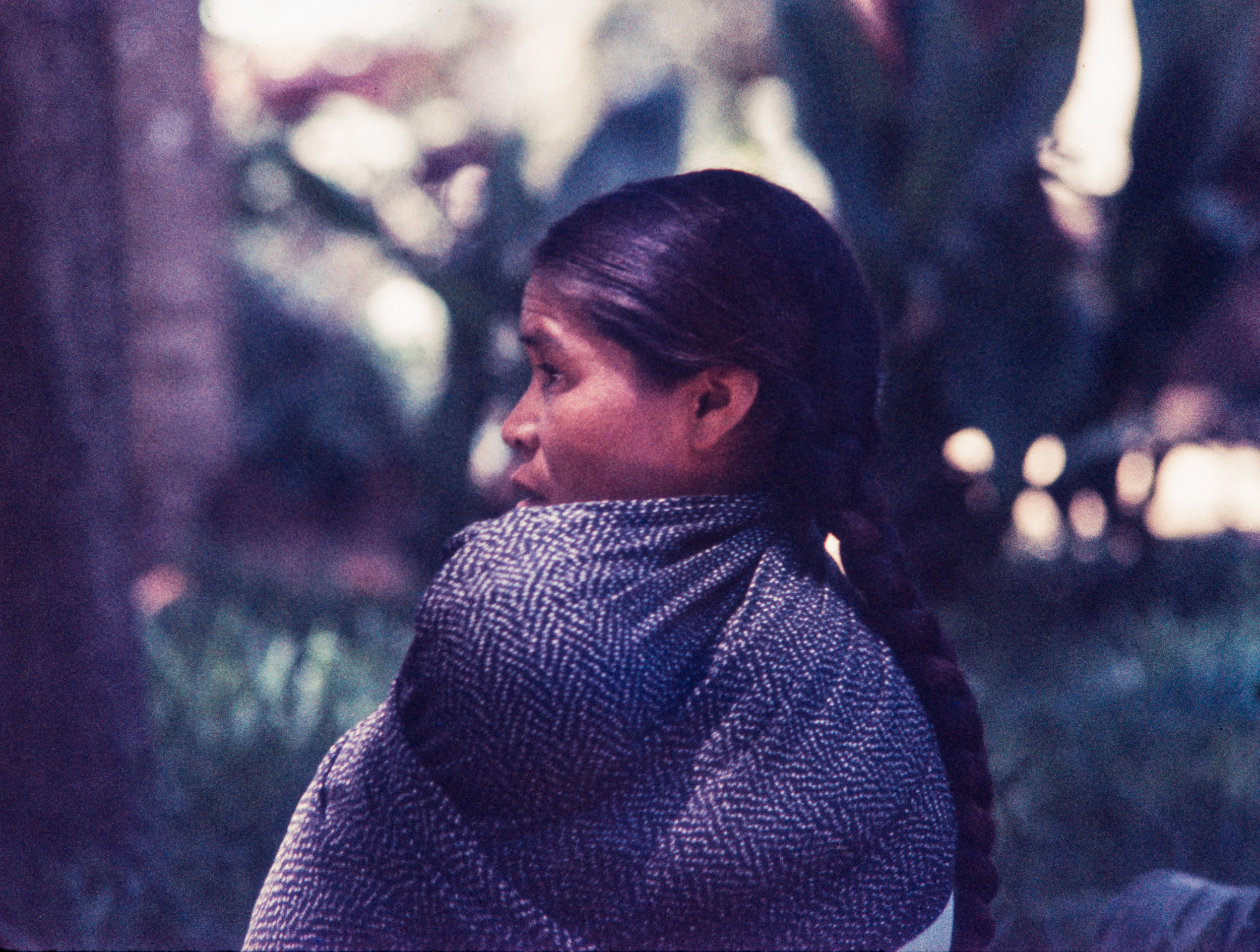 Woman with long braid, Mexico, 1957