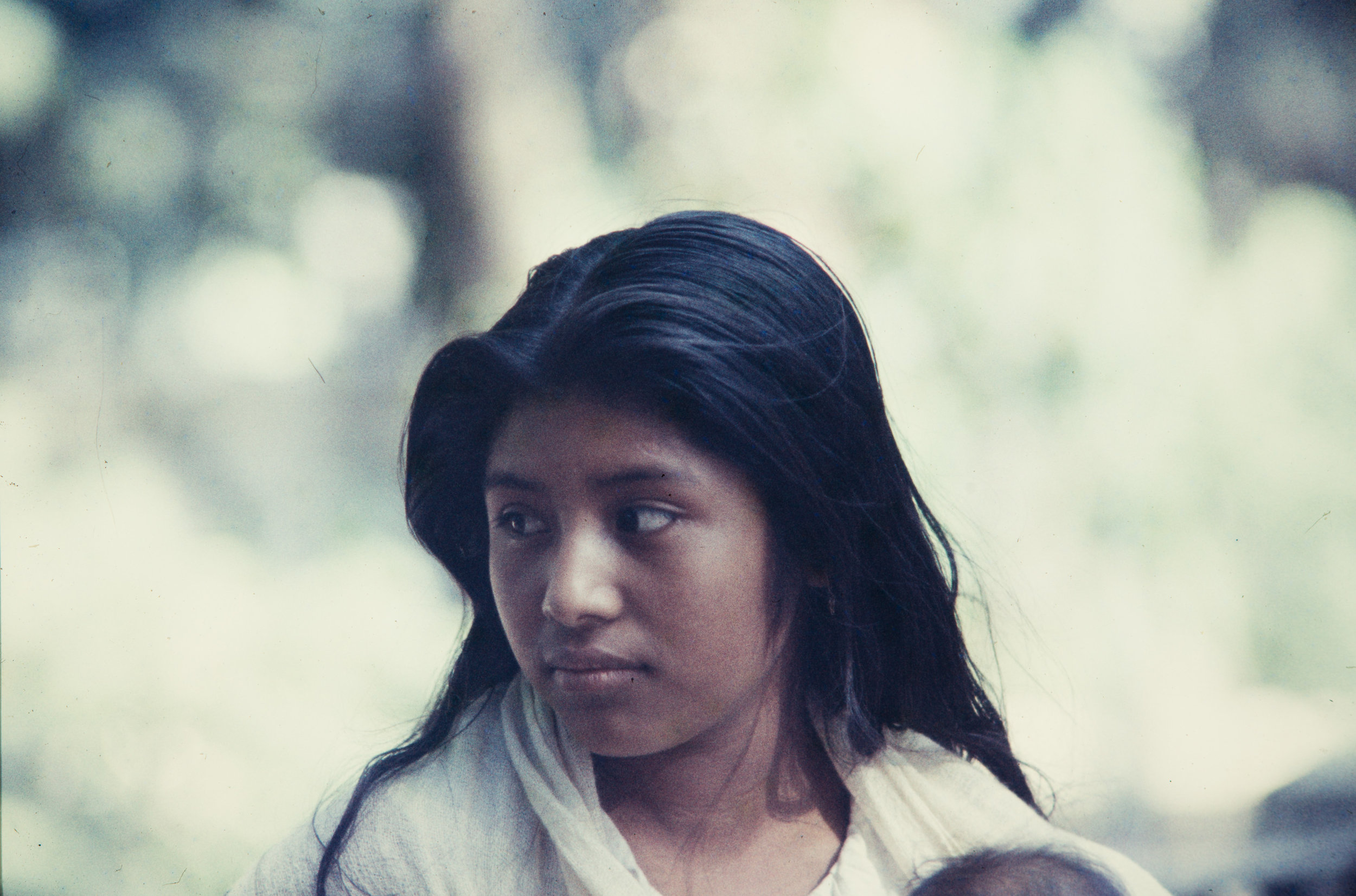 Young woman gazing, Mexico, 1957
