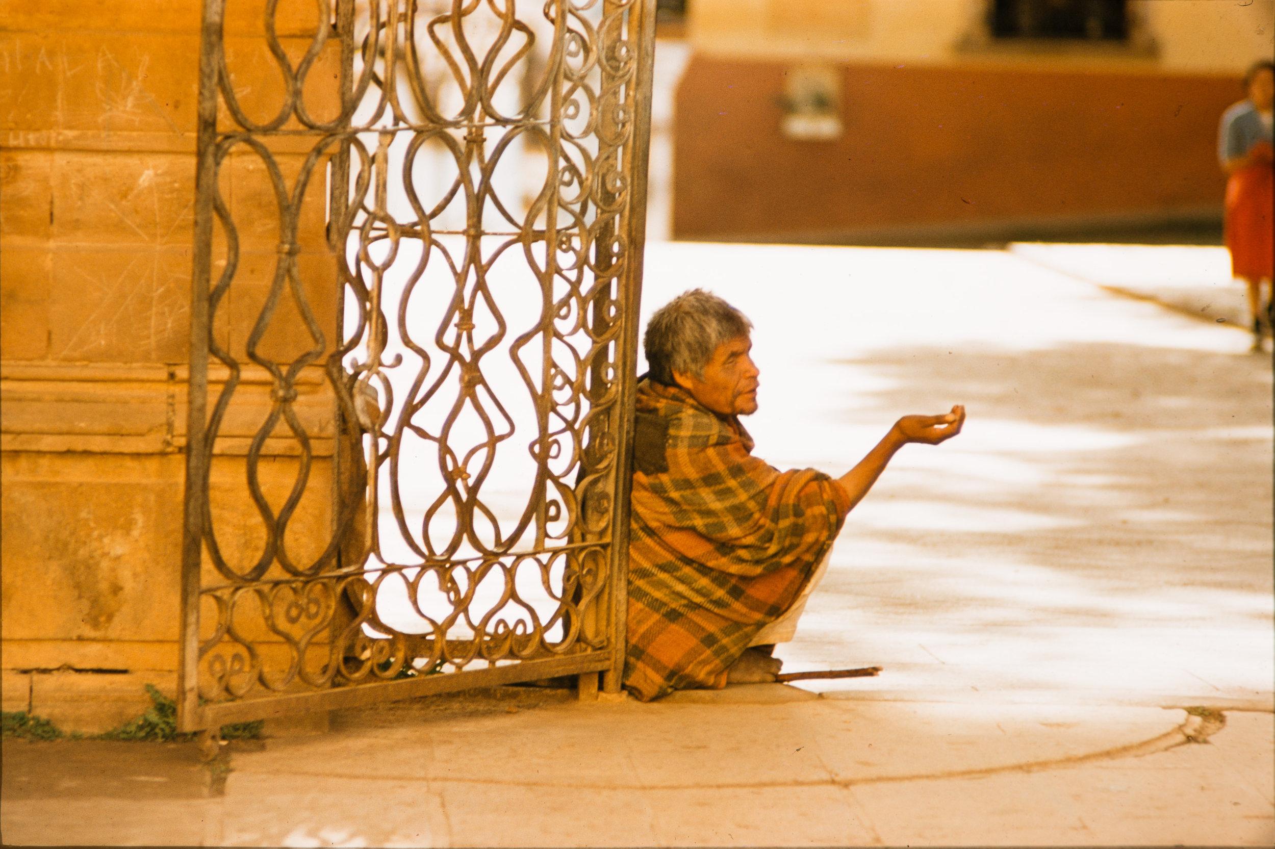 Street beggar, Mexico, 1957