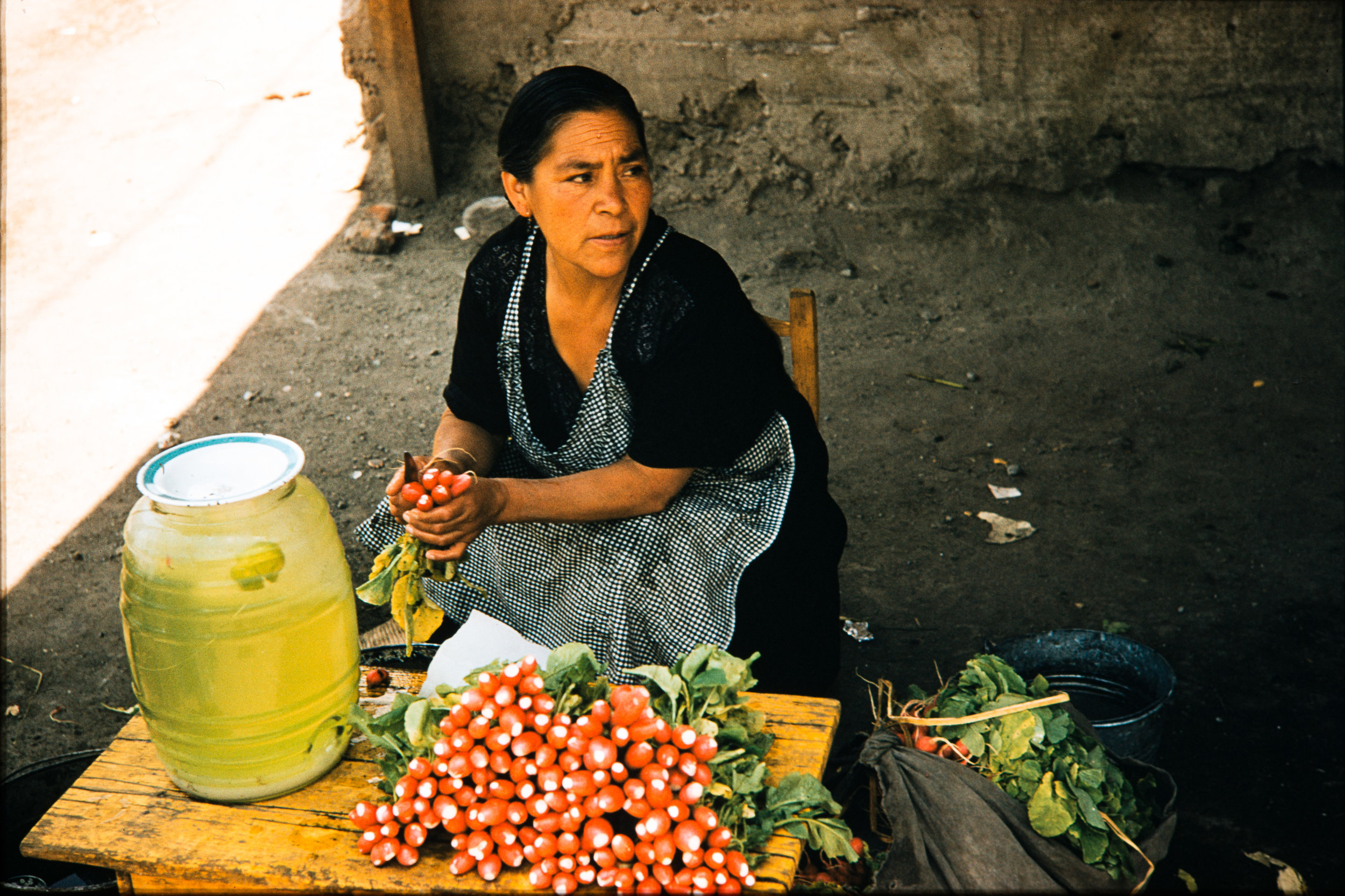 Woman preparing vegetables, Mexico, 1957
