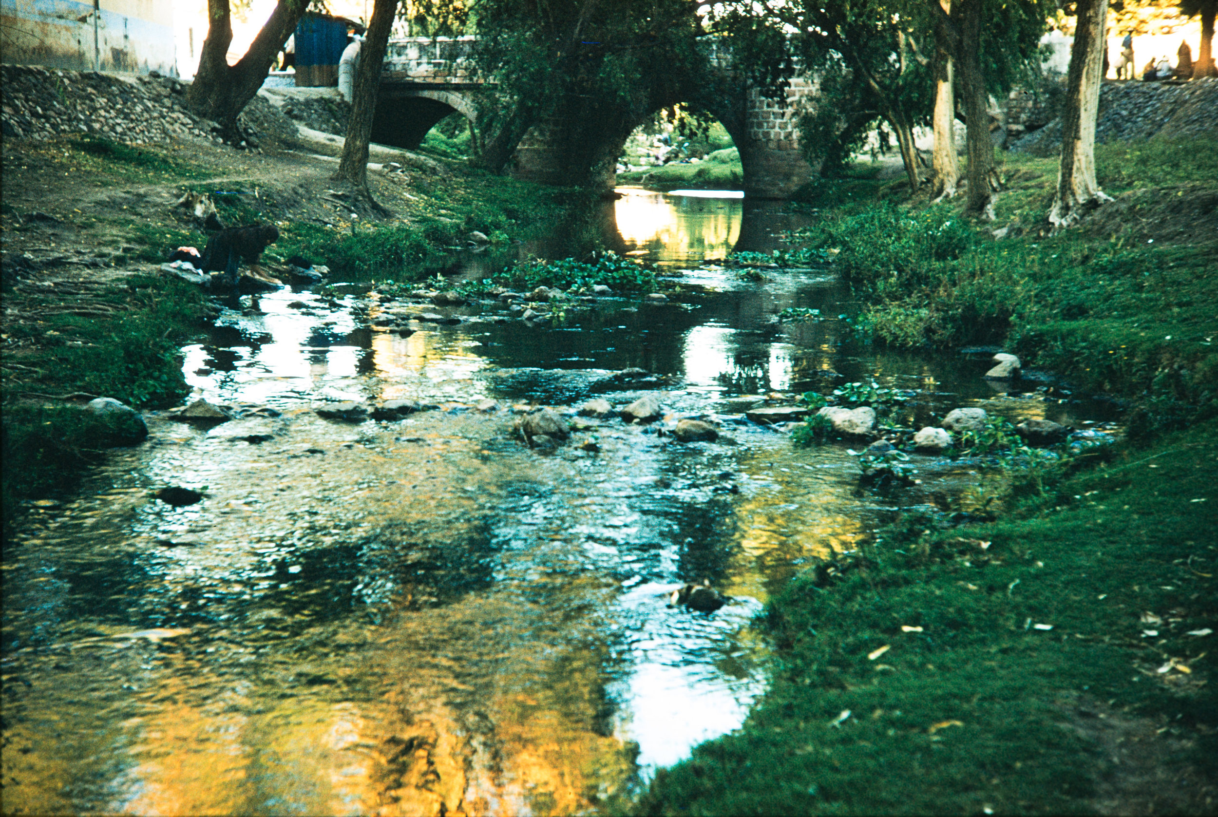 Stream with bridge, Mexico, 1957