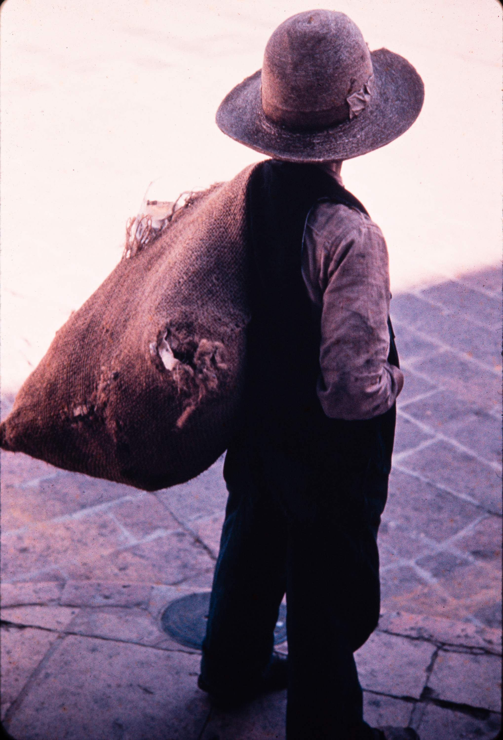 Man with sack, Mexico, 1957