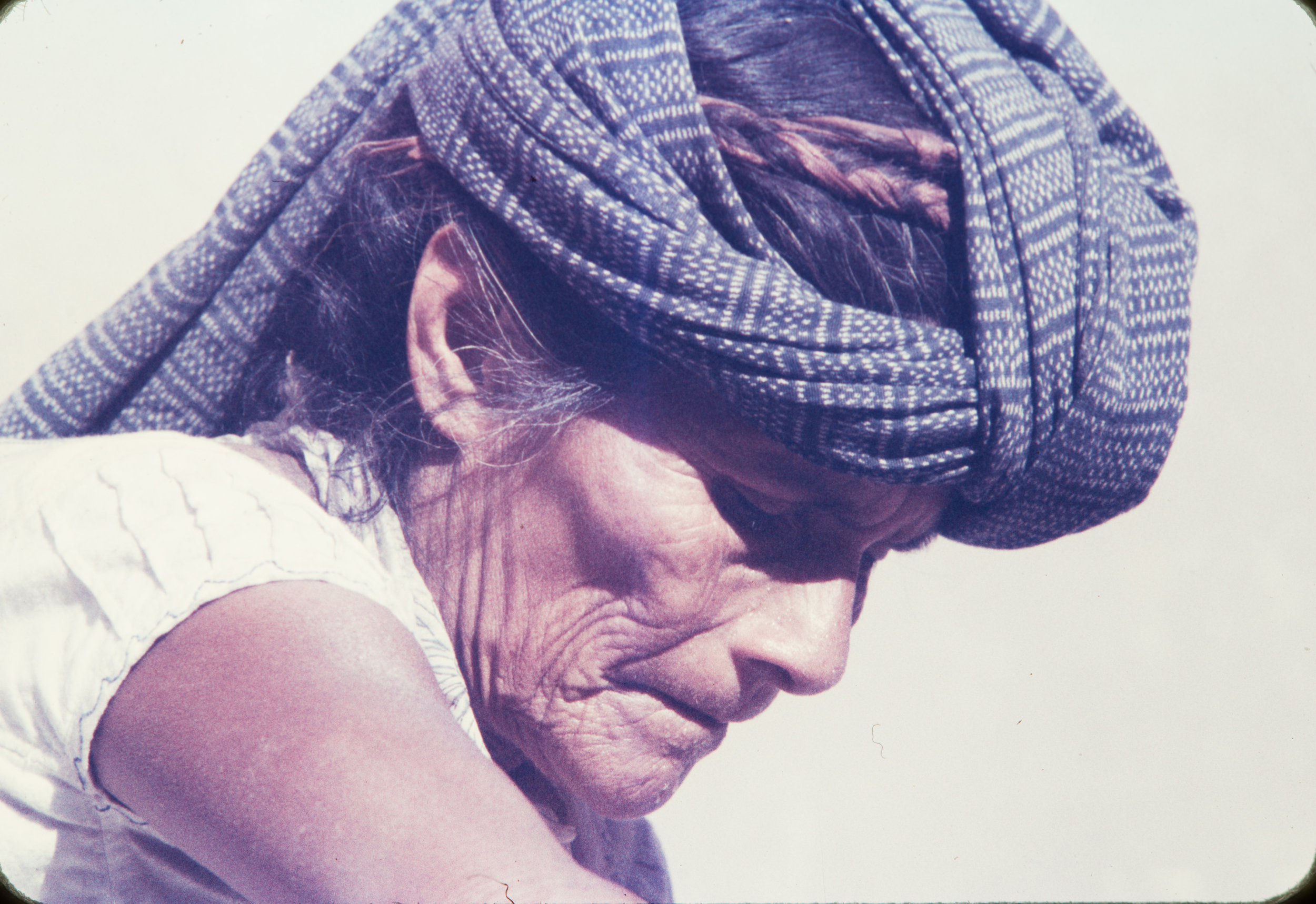 Old woman with scarf on head, Mexico, 1957
