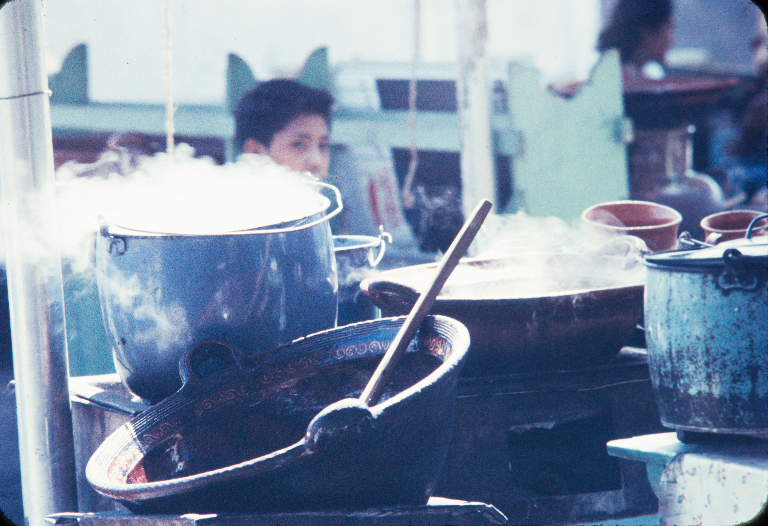 Food cooking, Mexico, 1957