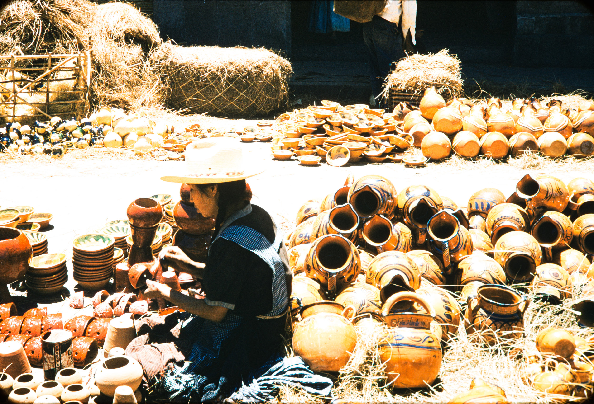 Woman with pottery, Mexico, 1957