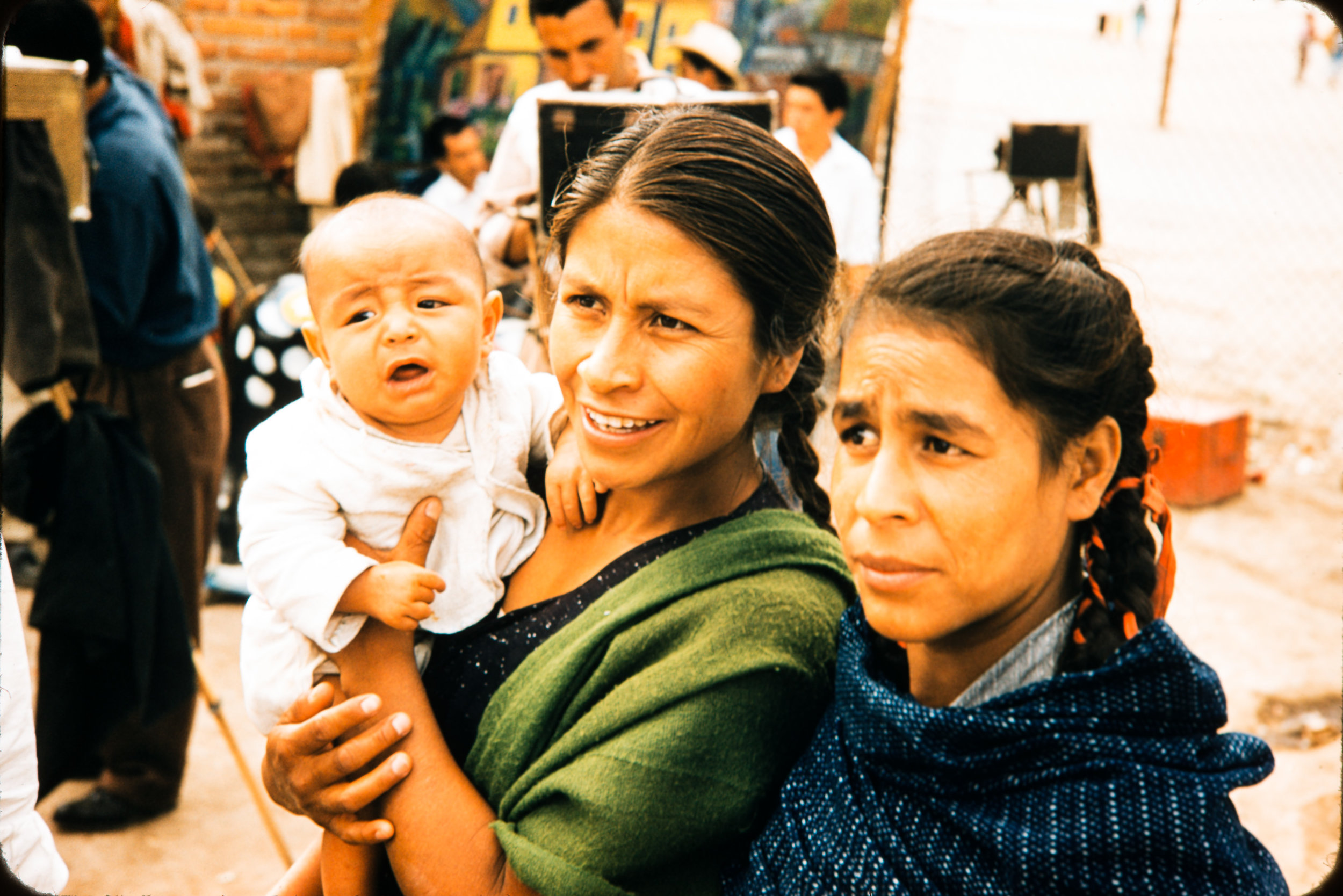 Two women and baby, Mexico, 1957