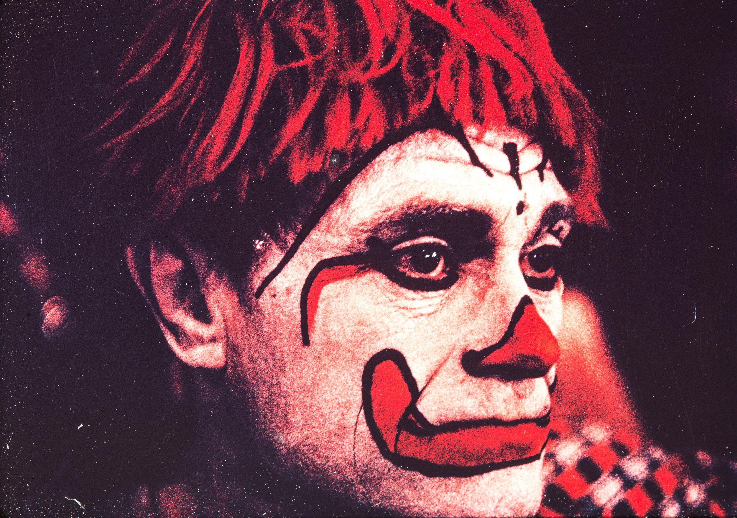 Clown portrait #2, NYC, 1959