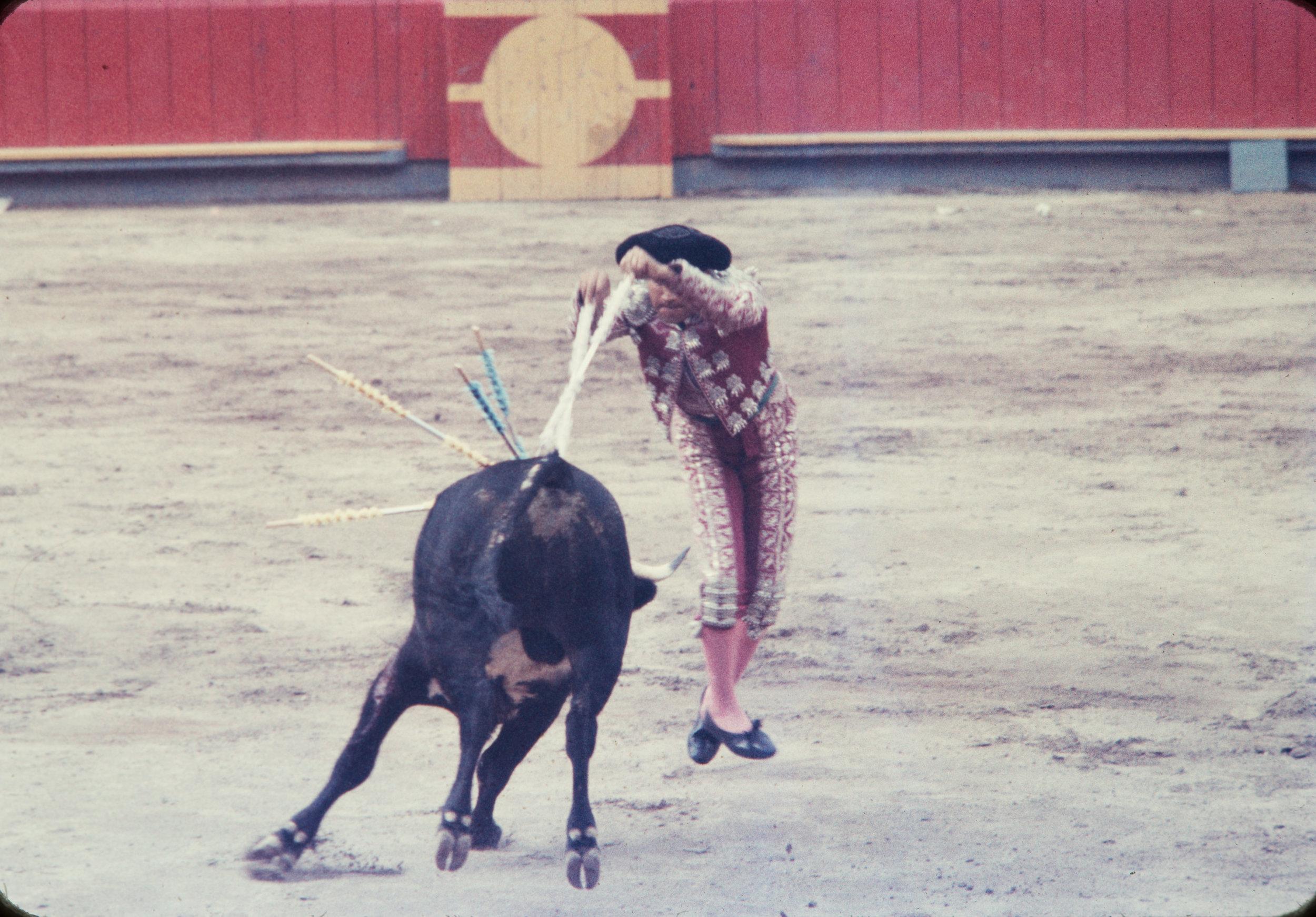 Matador and bull #5, Mexico, 1957