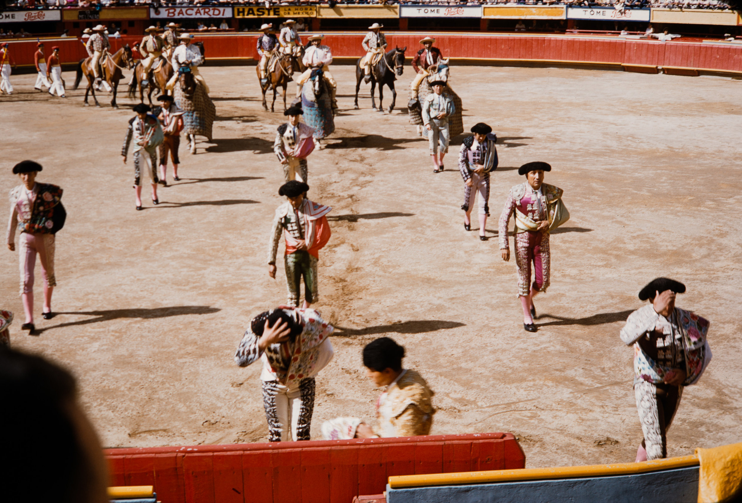 Bullfight entrance, Mexico, 1957