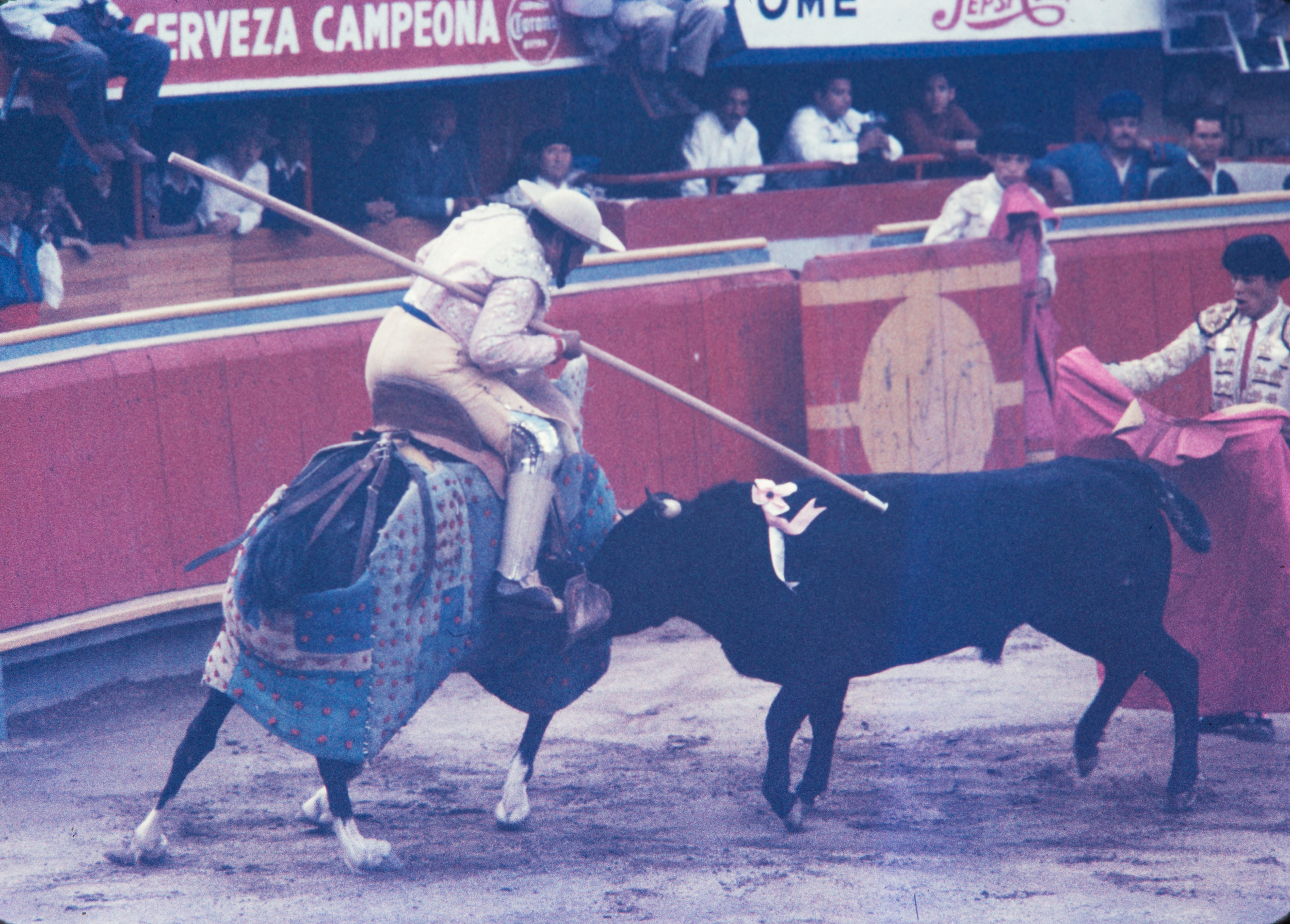 Taunting the bull #1, Mexico, 1957
