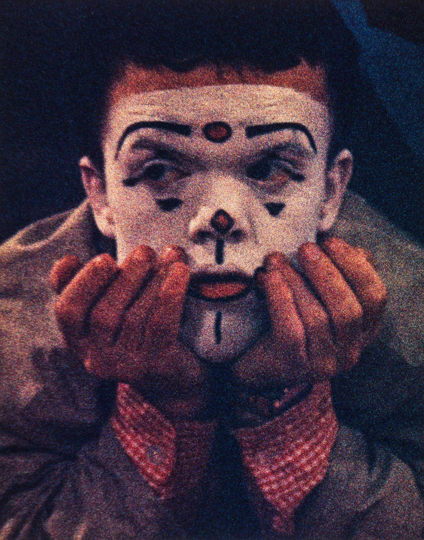 Clown portrait #1, NYC, 1959