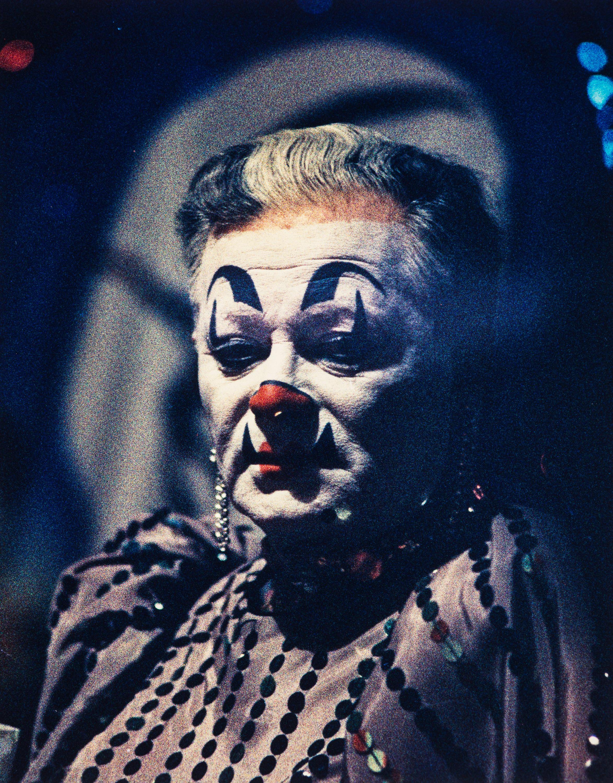 Clown portrait #4, NYC, 1959