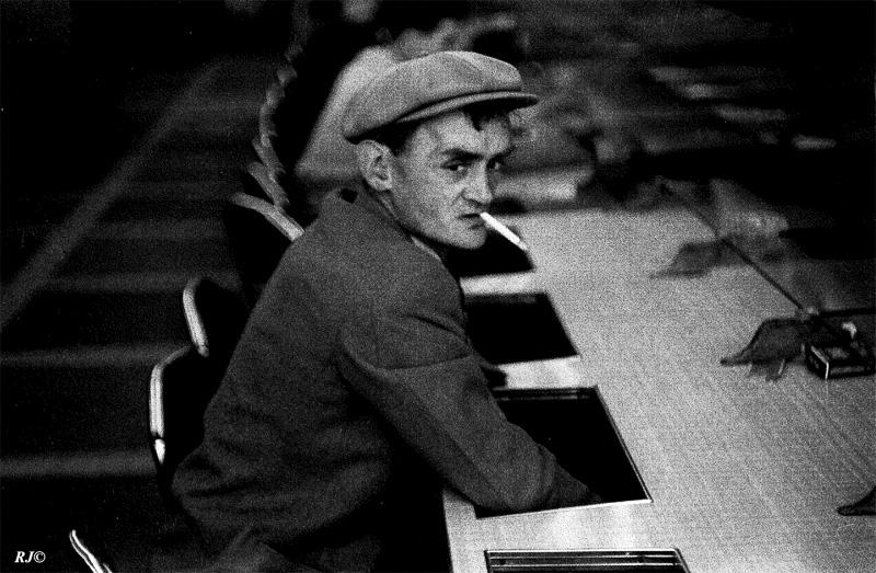 Man with cigarette, Coney Island, 1953
