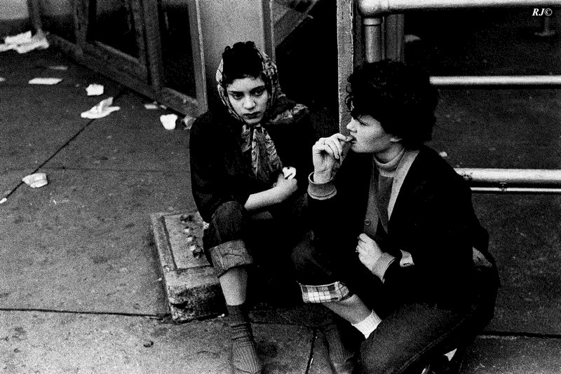 Two girls, featured in Family of Man, Coney Island, 1952