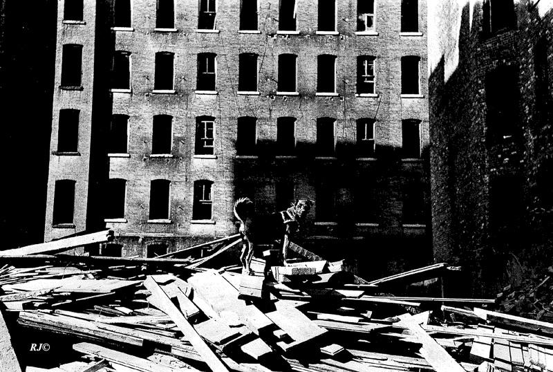Abandoned building, Harlem, 1953