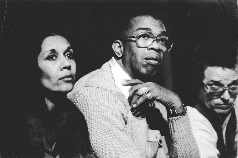 Director Geoffrey Holder & wife Carmen de Lavallade, Timbuktu, 1977
