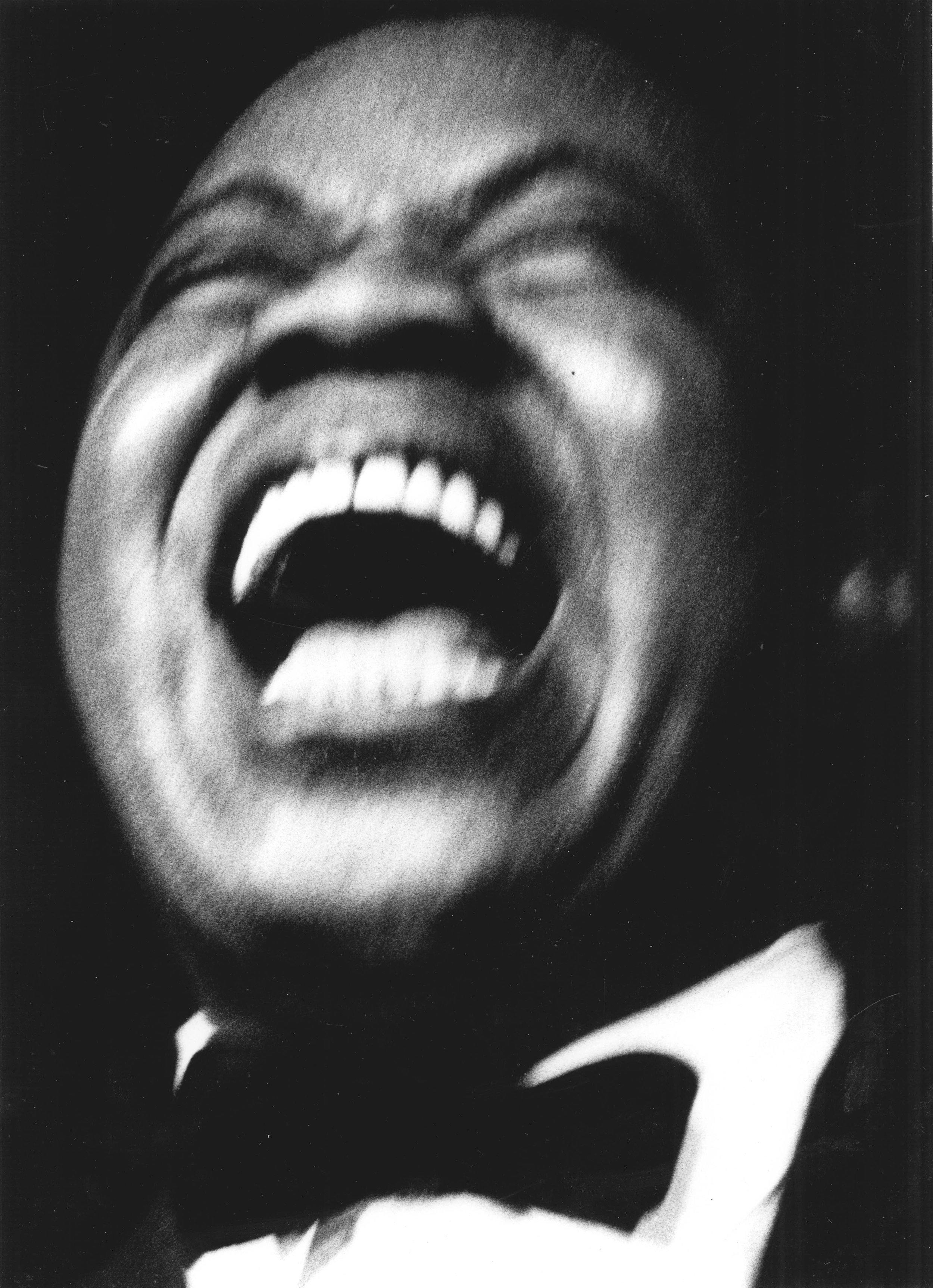 Big smile on stage, Basin Street East, 1954