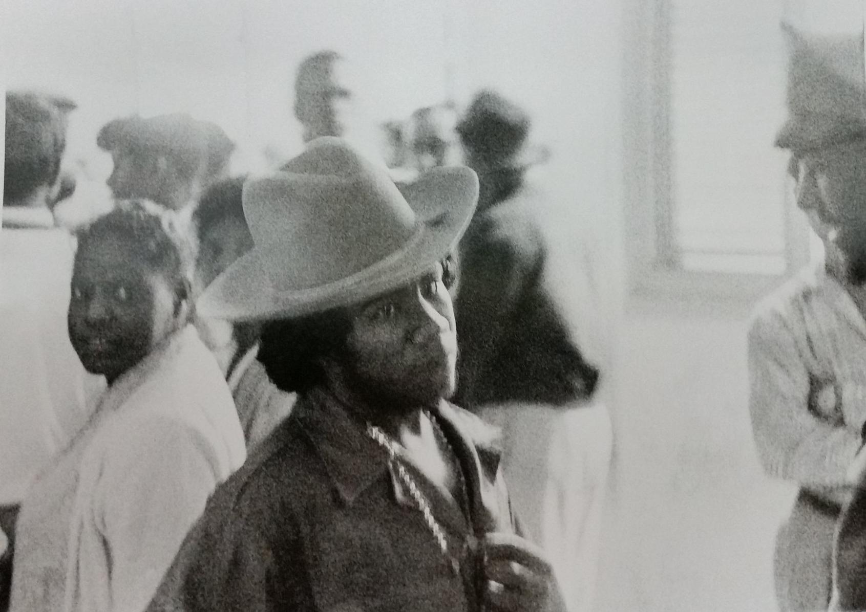Castro rebel with big hat, Matanzas, Cuba, 1959