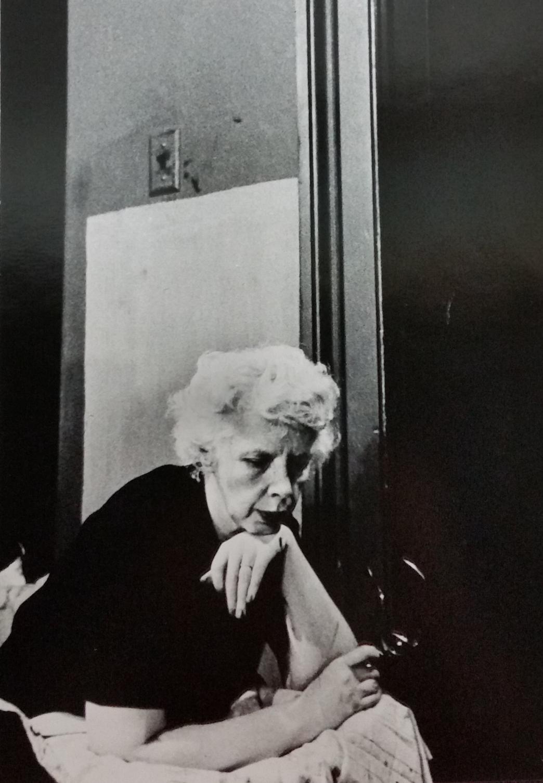 Lisette Model, 7th Avenue studio, 1953, photo by Raymond Jacobs