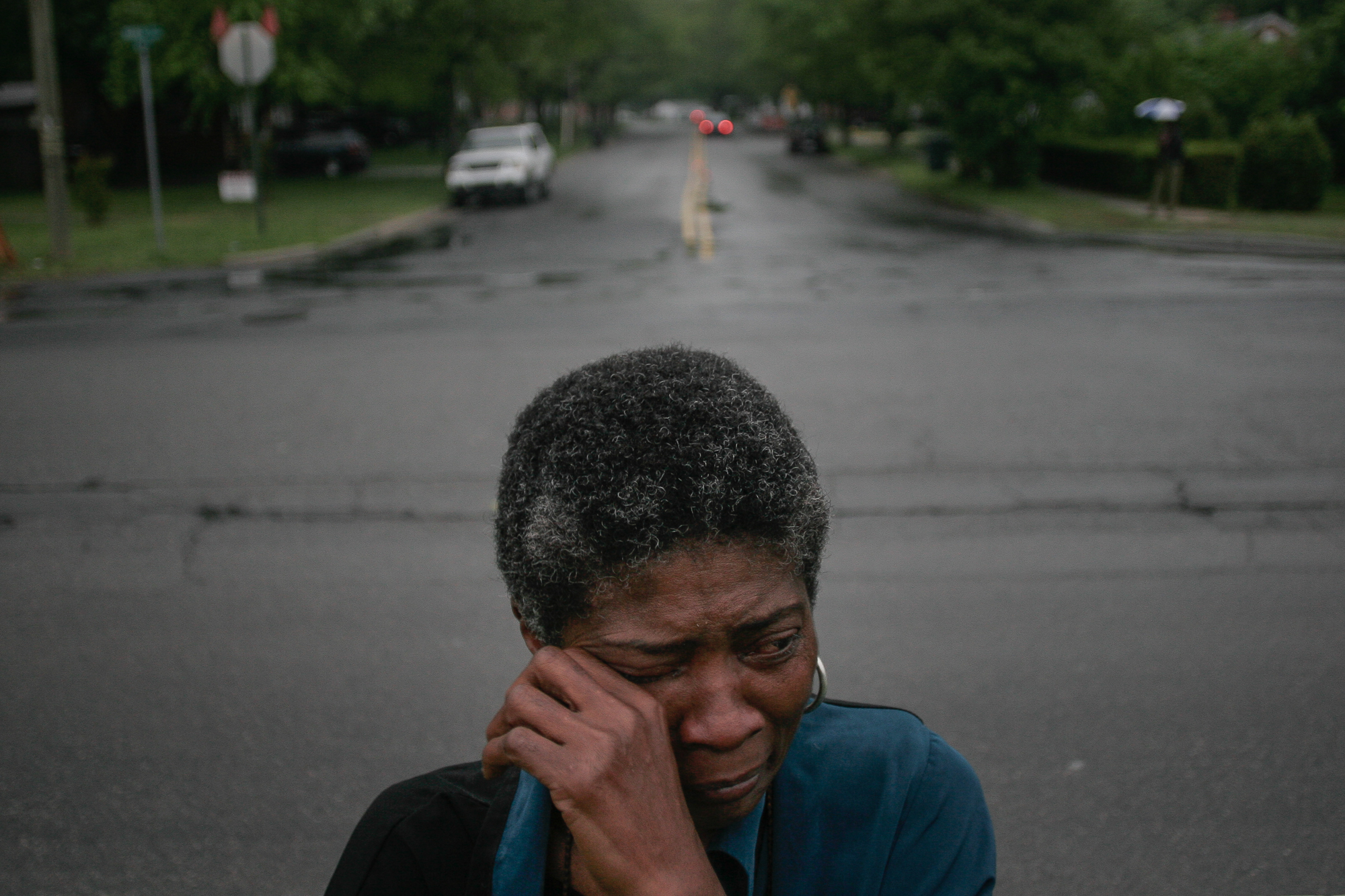 """""""Since Ray been murdered, I have nightmares. I dream of him in the morgue and when they are cutting his body I wake up because I can feel the knife cutting me,"""" says Joslin Simms, who weeps at the corner of Broad and Leon streets where her son, Rayburn, 30, was shot to death on May 21, 2005. The case remains unsolved. Ray left behind four children and a devastated mother. A decade later, Joslin limps along maimed by grief and depression. She calls it a """"walking death."""""""