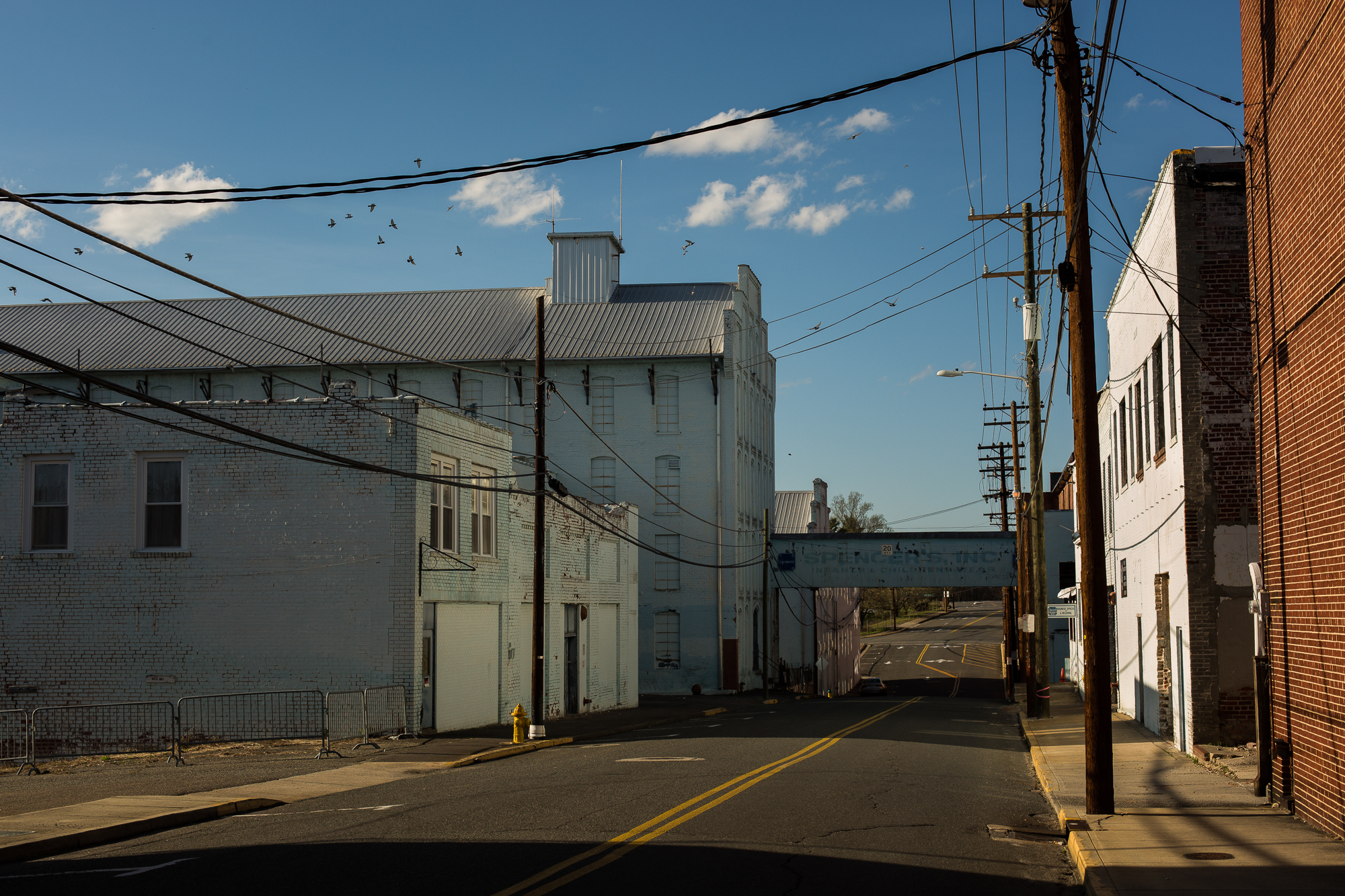 The abandoned Spencer, Inc factory once made children's clothing in Mount Airy, N.C.