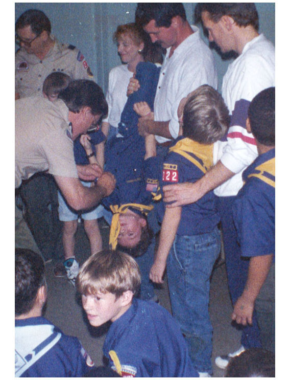 Me, 9, getting my Bobcat badge in Cub Scouts, 1992 Montgomery, Alabama.
