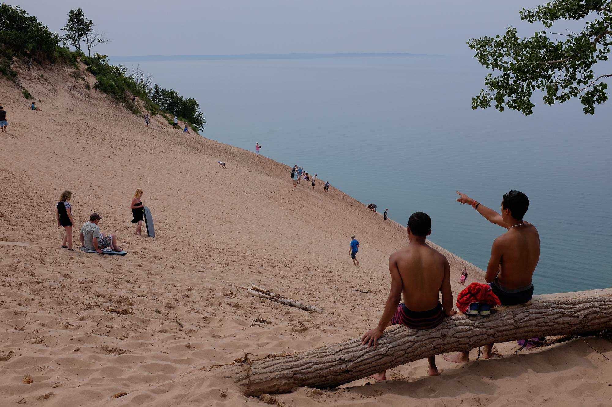 """Louis and Clark"" Sleeping Bear Sand Dunes, Michigan."
