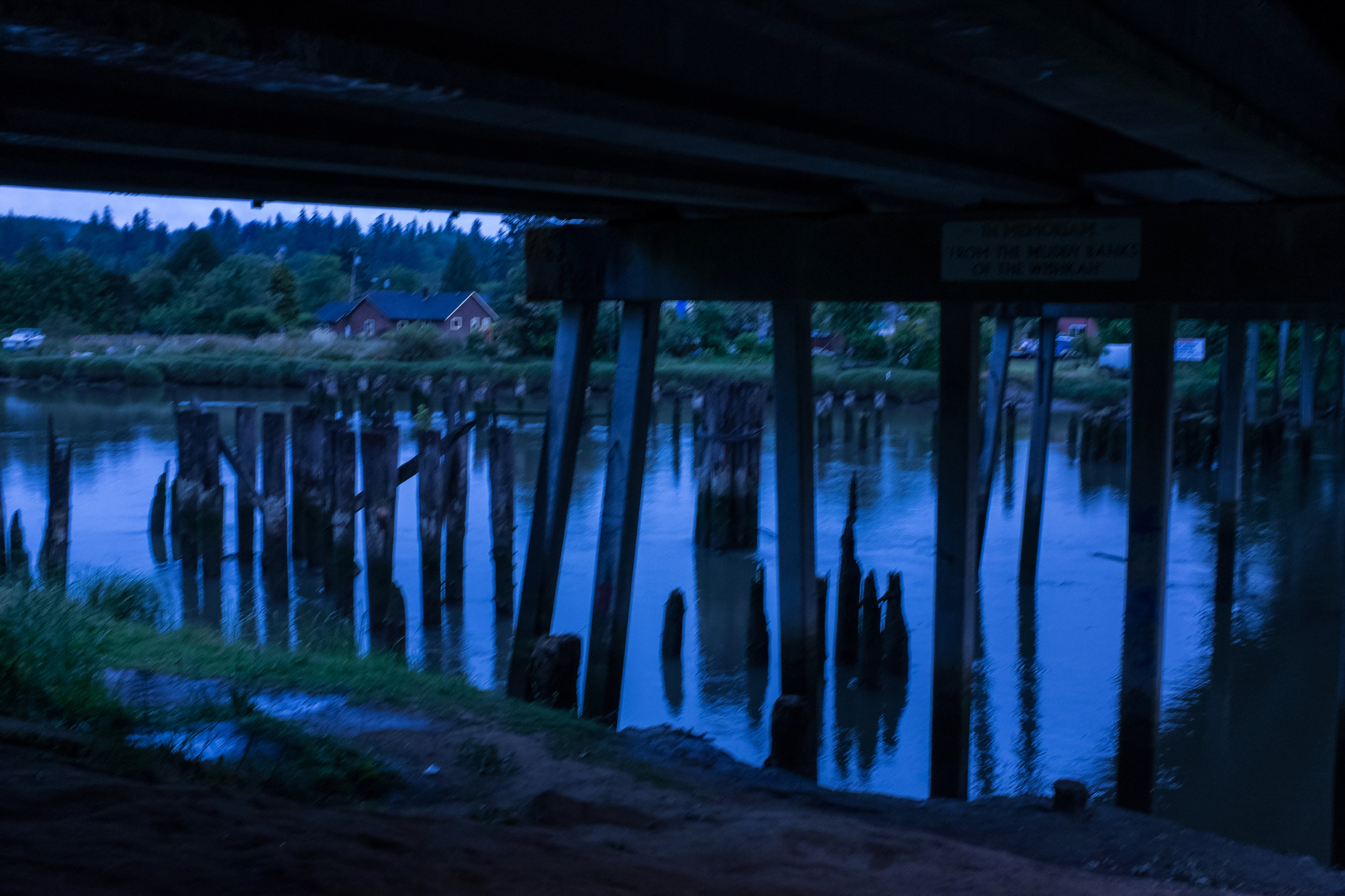 The Young Street bridge in Aberdeen Washington, where Kurt Cobain used to hide and sleep and write music as a teenager.