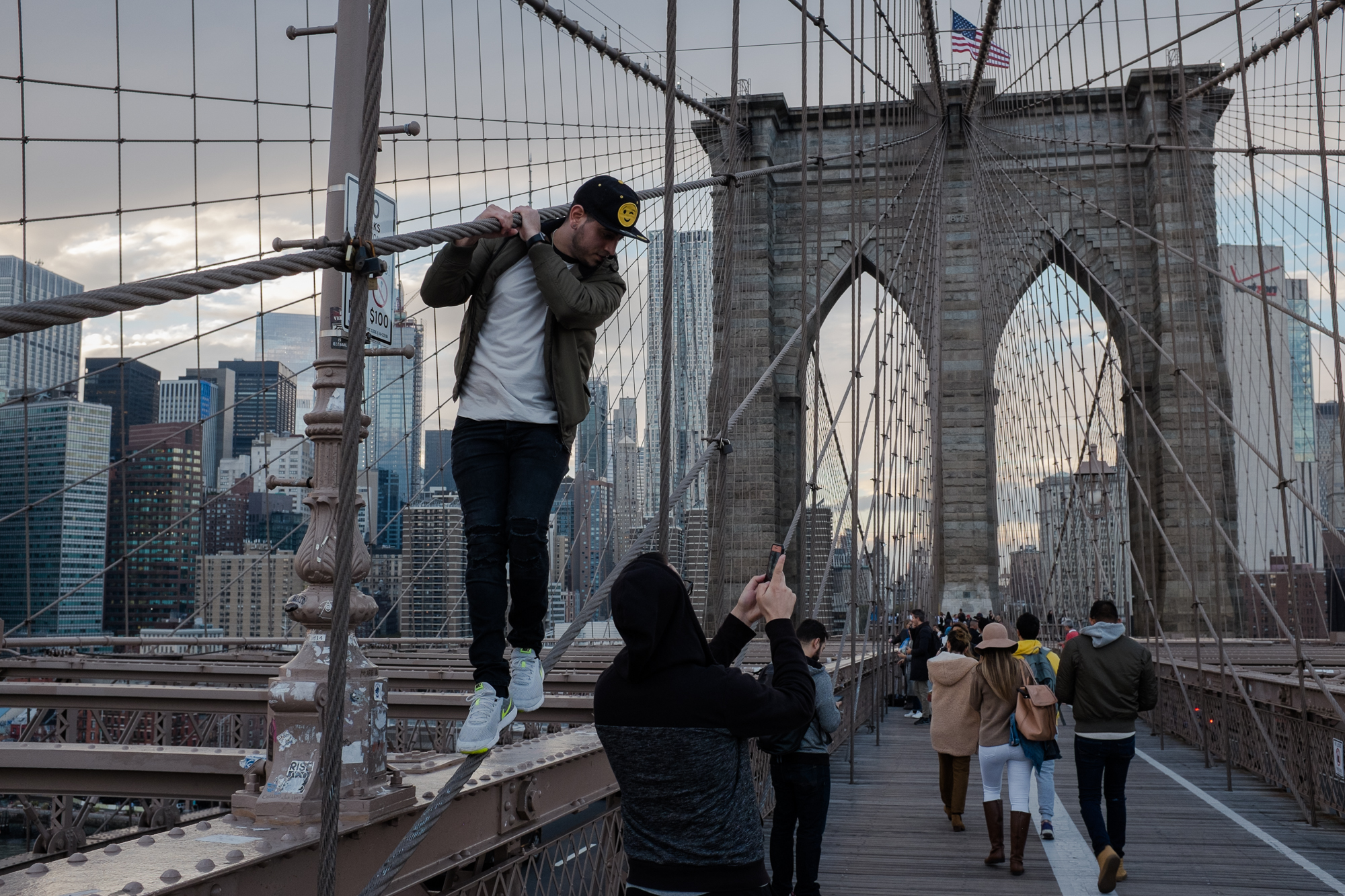 Did you get the photo? Brooklyn Bridge.