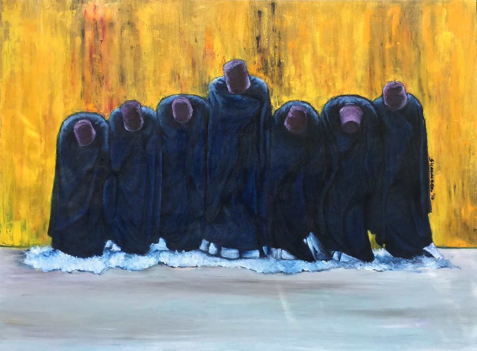 The Semazens - 2016. Oil on Canvas. 35.5