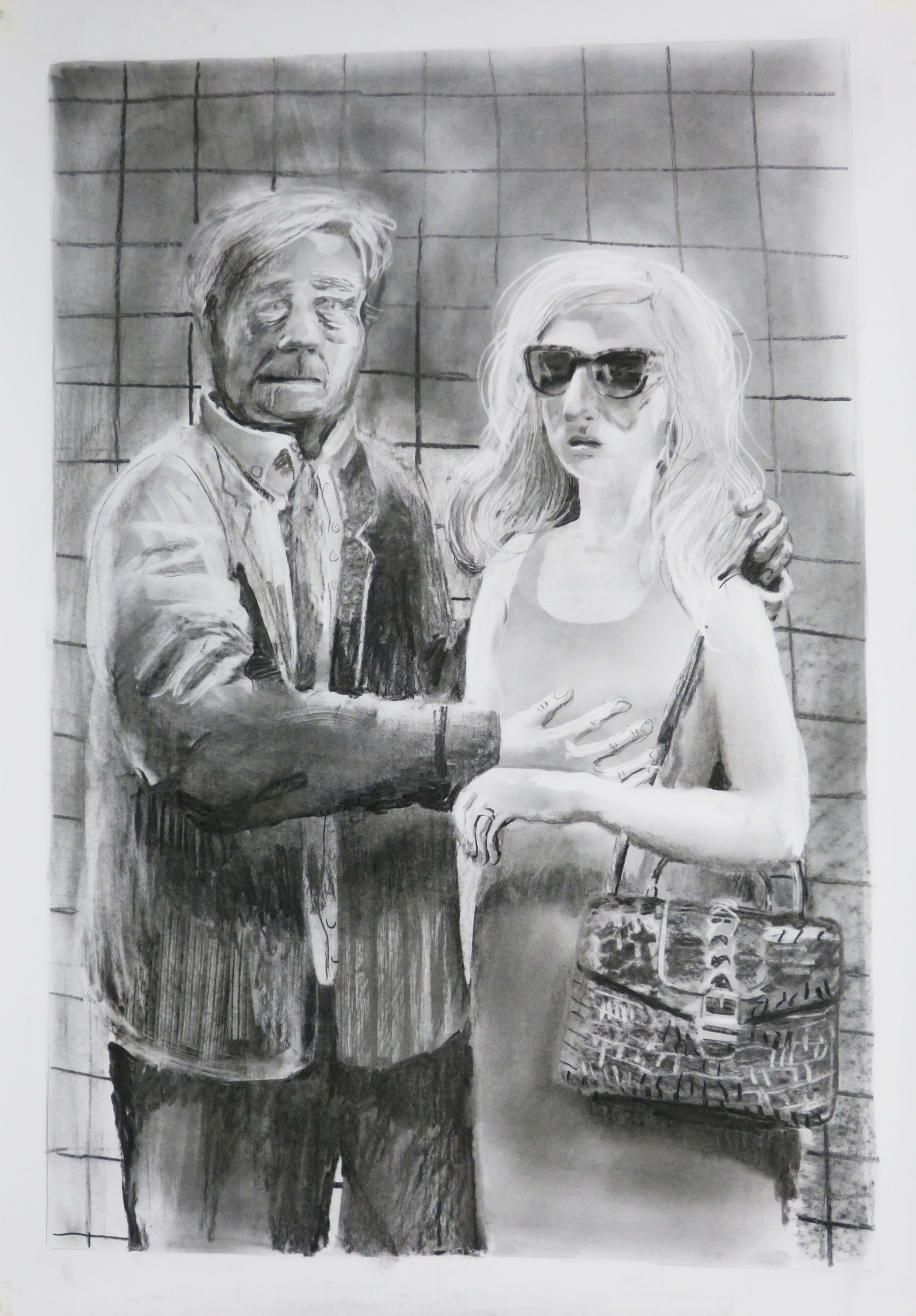 Subway Series: Ill Matched Couple (after Lucas Cranach)