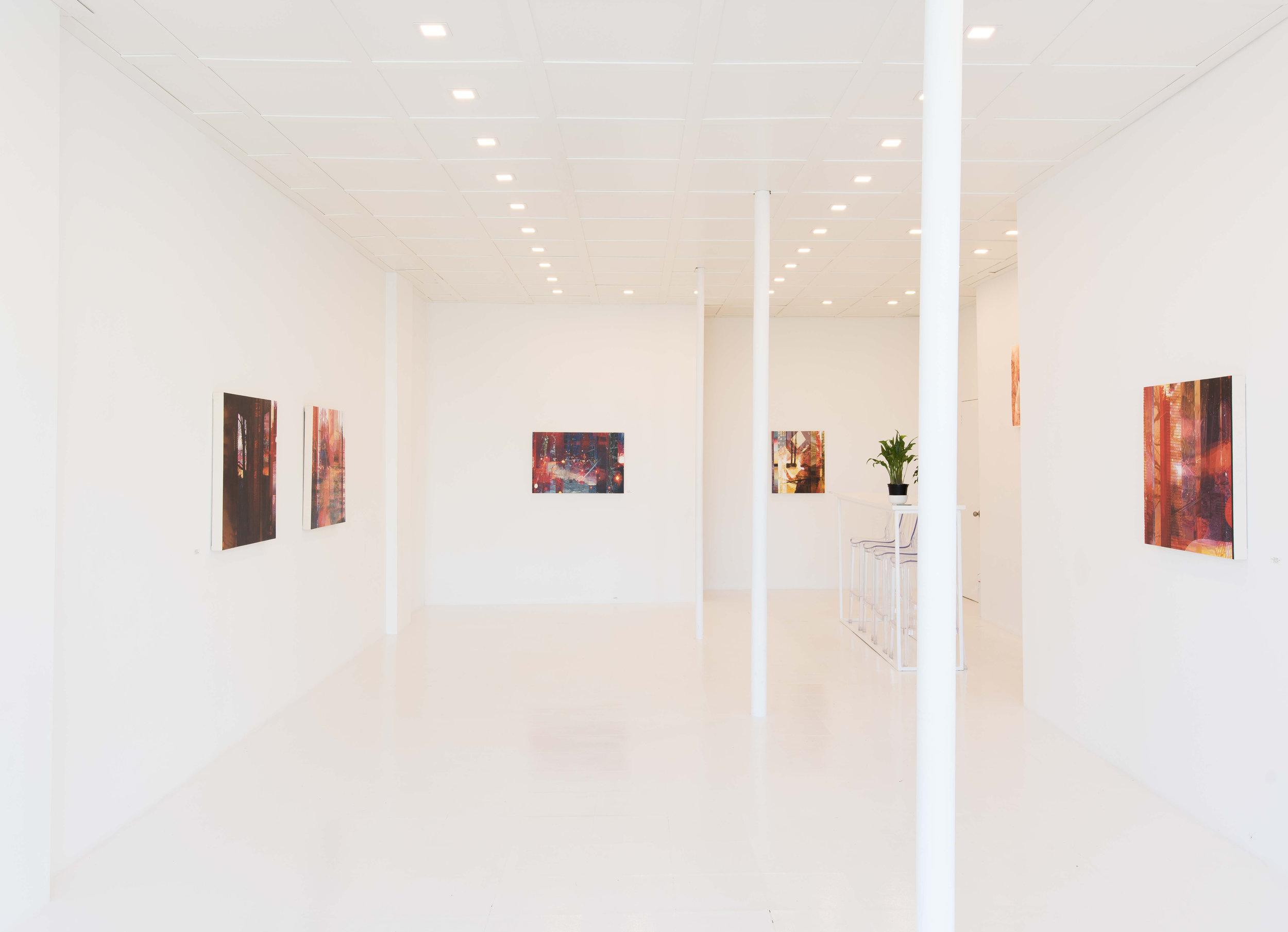 Vue de l'exposition  Ma chambre noire , 2018, Rock Lamothe - Art Contemporain, Crédit photo: Donald Trépanier