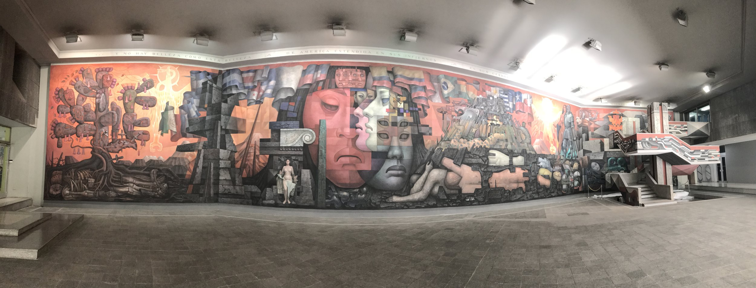 """Presencia del America Latina""- a panoramic view"