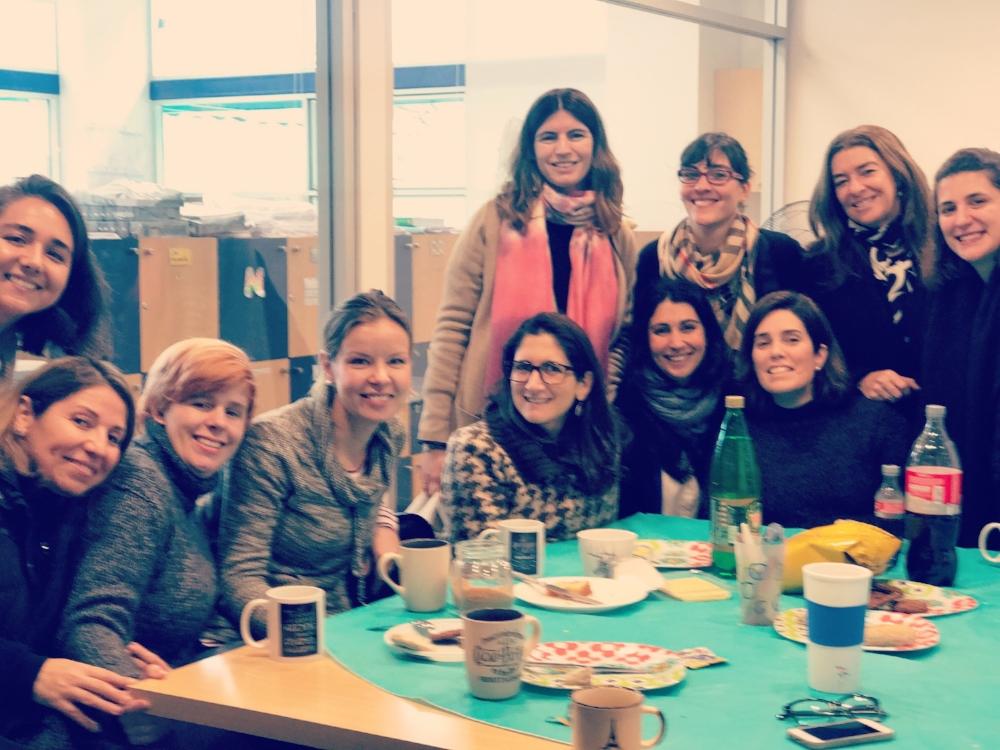 A welcome breakfast by Villa Maria teachers. How sweet!!!