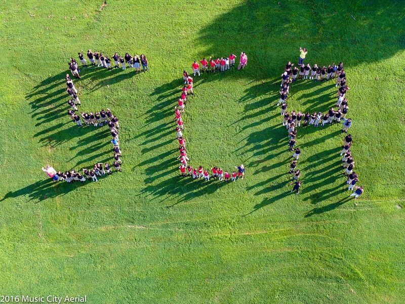 Music Aerial 1st Day of School Photo/ Smithson Craighead Elementary