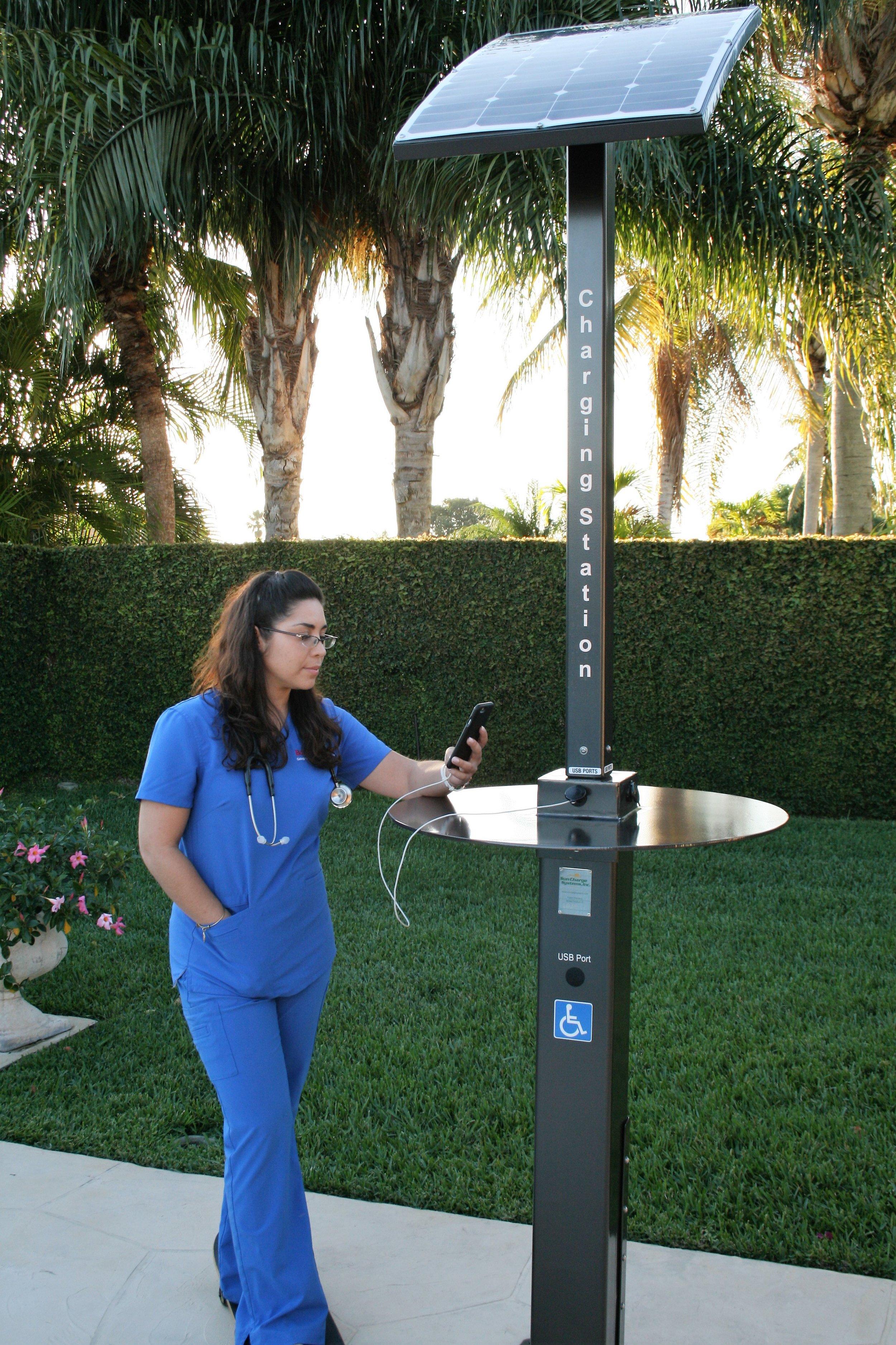 Solar Charging pole