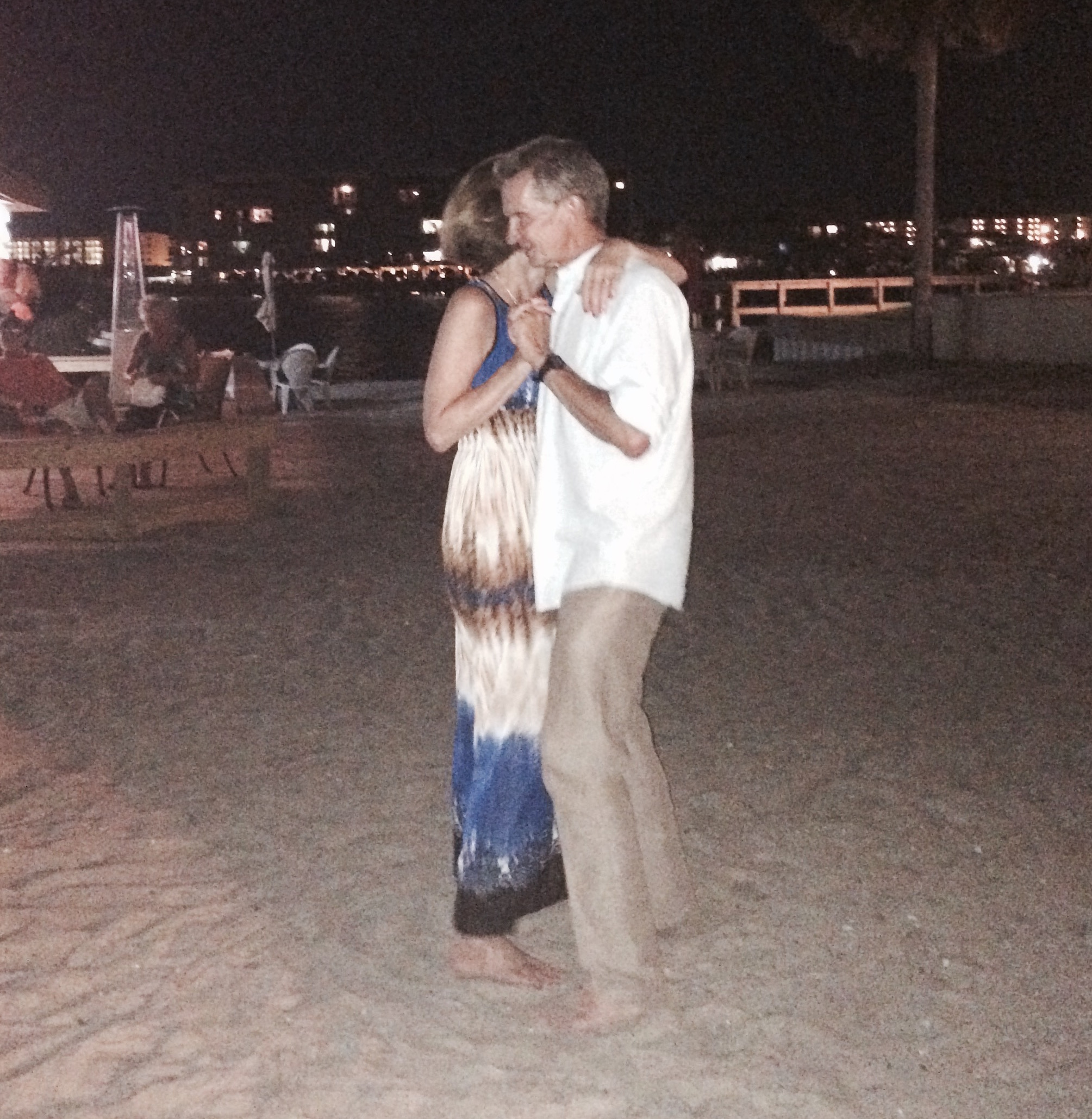 One should celebrate their birthday dancing barefoot at the beach with their honey!