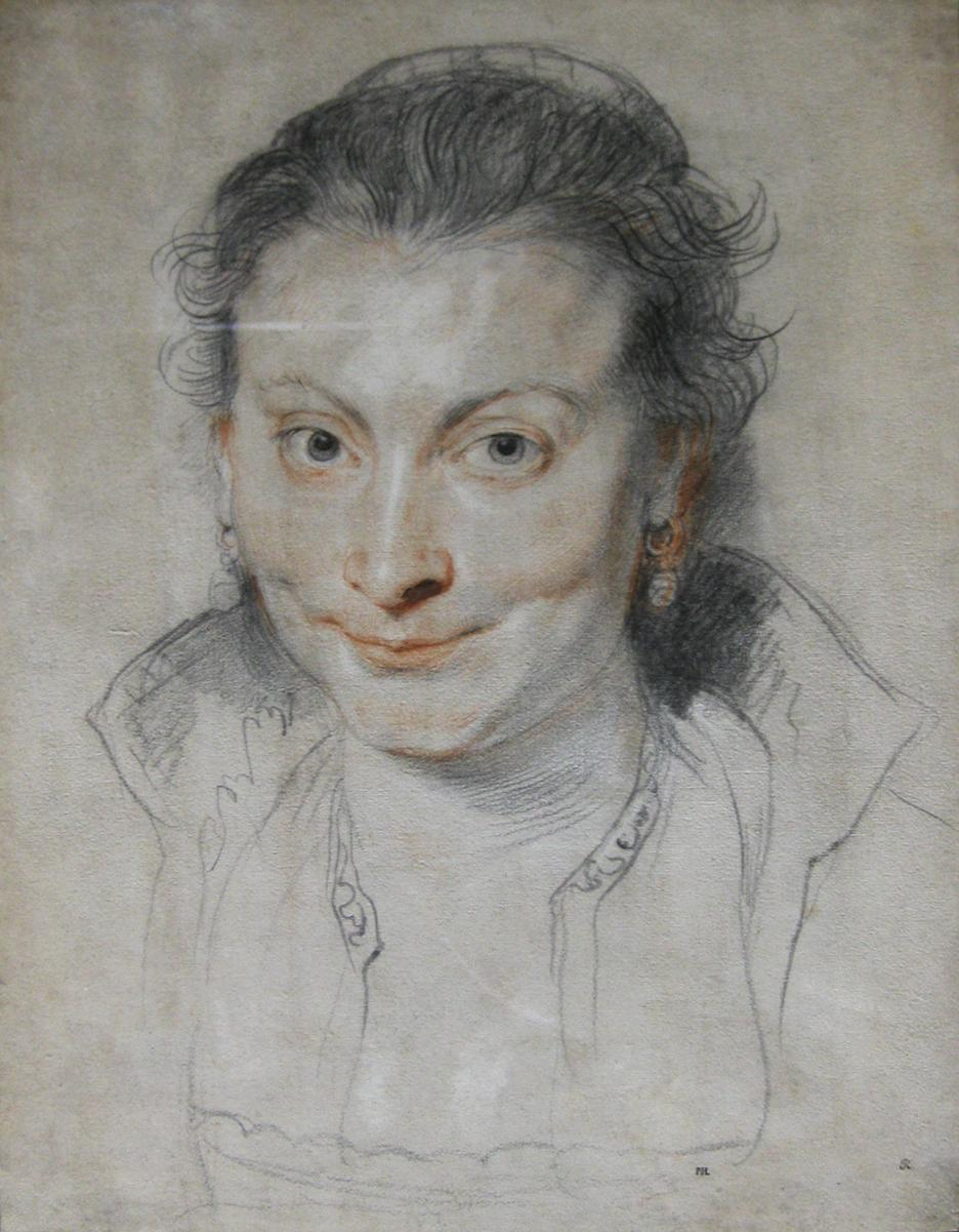 Drawing of Isabella Brant by Peter Paul Rubens.
