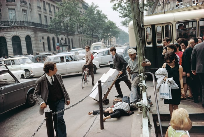 'Not one of them helps' … Paris, France, 1967, from the new book Where I Find Myself© Joel Meyerowitz via  The Guardian
