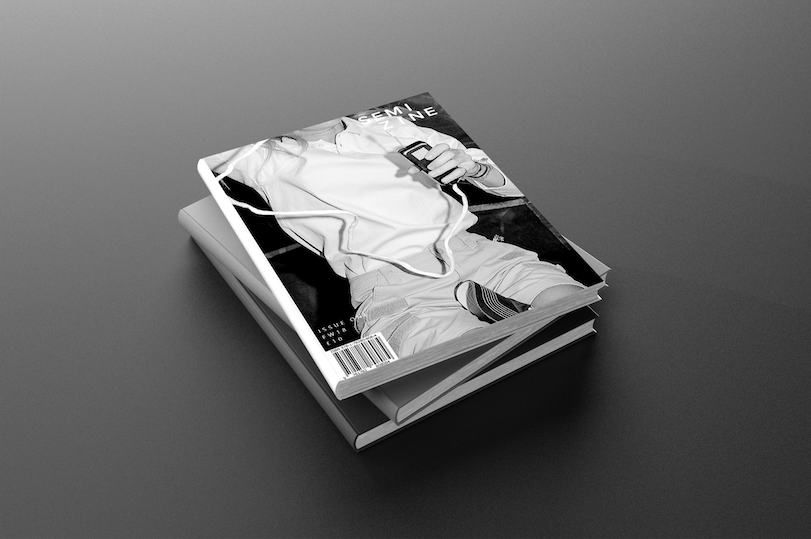 Mock up for the first Semi Magazine Issue 1 featuring work from Arthur Fechoz's Horizon.