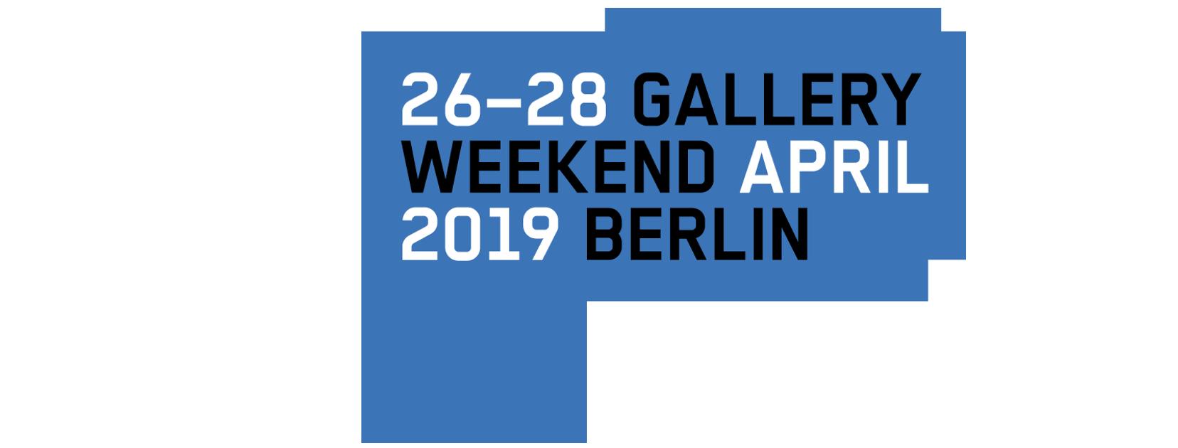 Gallery Weekend Berlin 2019.